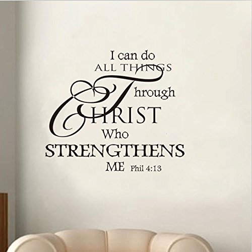 Soledi Wall Decal I Can Do All Things Through Christ Who ...