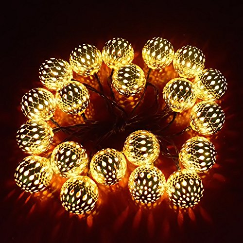 Decorative Garden String Lights : Ucharge Globe String Lights 20Led 25ft Led Christmas Lights for Home, Garden, Patio, Party ...