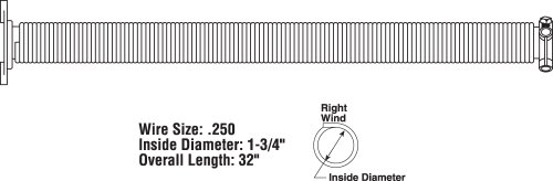 Prime line products gd 12230 garage door torsion spring for Garage door wind code ratings